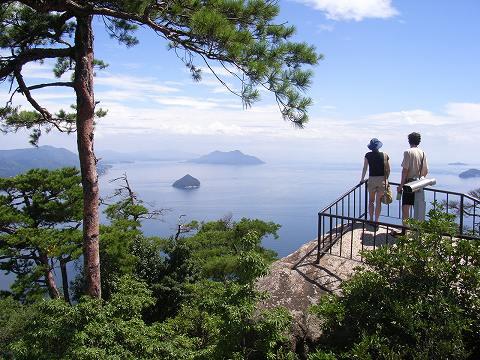 同じく獅子岩展望台からの眺め。本当に美しいです。