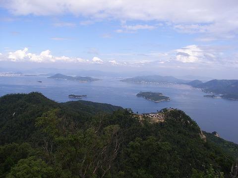 弥山展望台からの眺め。絶景!
